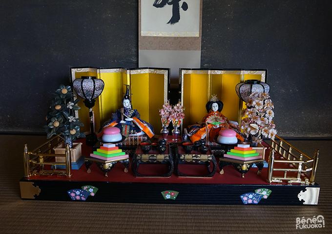 Poupées japonaise pour Hina matsuri, la fête des poupées