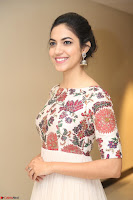 Ritu Varma smiling face Cream Anarkali dress at launch of OPPO New Selfie Camera F3 ~  Exclusive 097.JPG