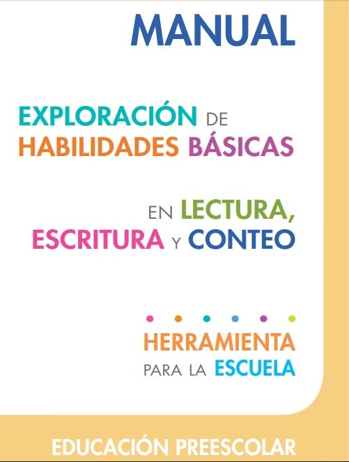 Materiales SisAT Preescolar - Lectura, Escritura y Conteo
