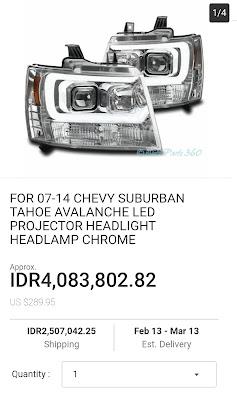headlamp suburban untuk chevrolet samba dari ebay
