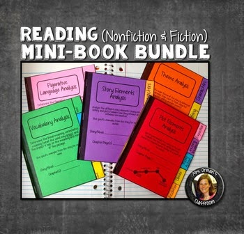 http://www.teacherspayteachers.com/Product/Interactive-Notebooks-Bundle-All-5-Mini-Books-for-Reading-1289979