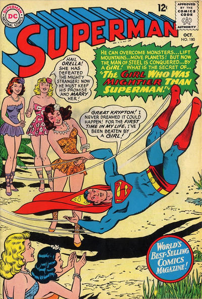 Episode #388 Part I: Superman Comic Book Cover Dated October 1965: Superman #180!