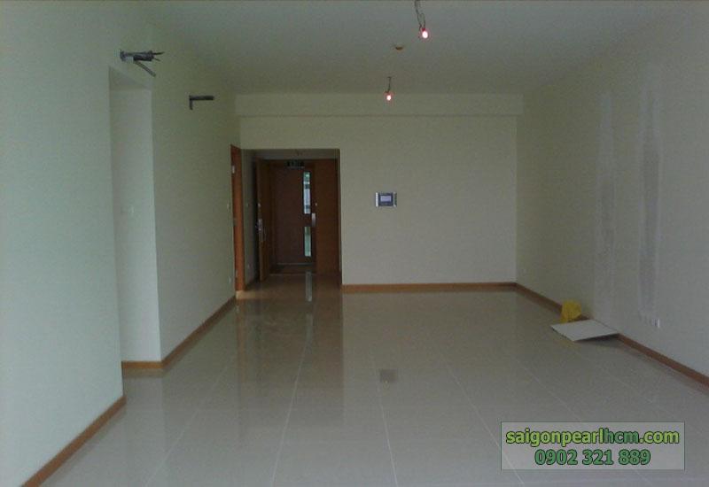 nhà trống tầng 23 Saigon Pearl Topaz 2 - phòng khách hướng ra cửa