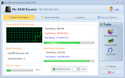 برنامج mz ram booster لتسريع الكمبيوتر اخر اصدار 2016