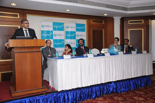 Mr. Lalit Jaiswal, Founder-Director, CelluGen Biotech Pvt Ltd. addresing the audience-min