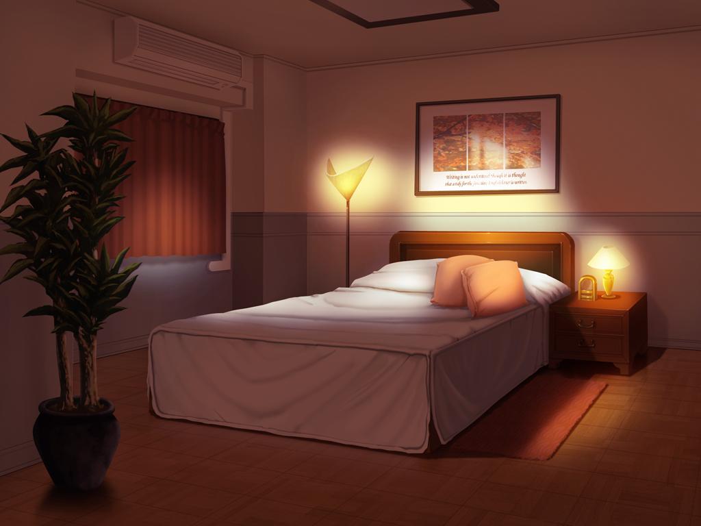 Bedroom anime background