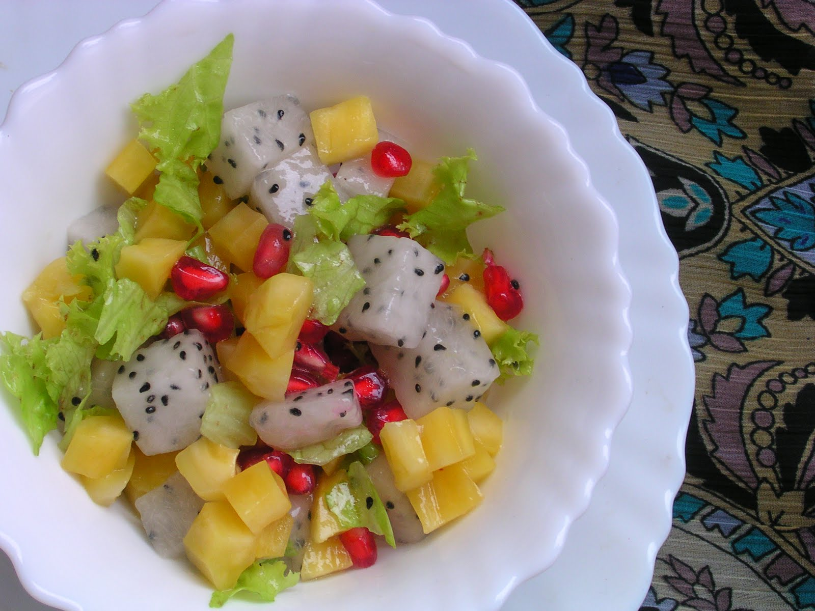 Dragon fruit jackfruit salad