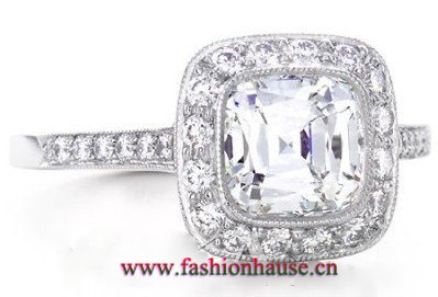 994d08b17 It presents ornate and dignified, which reminds you of Edwardian diamond  ring. Price: about $ 4040. 3. Tiffany Setting diamond engagement ring