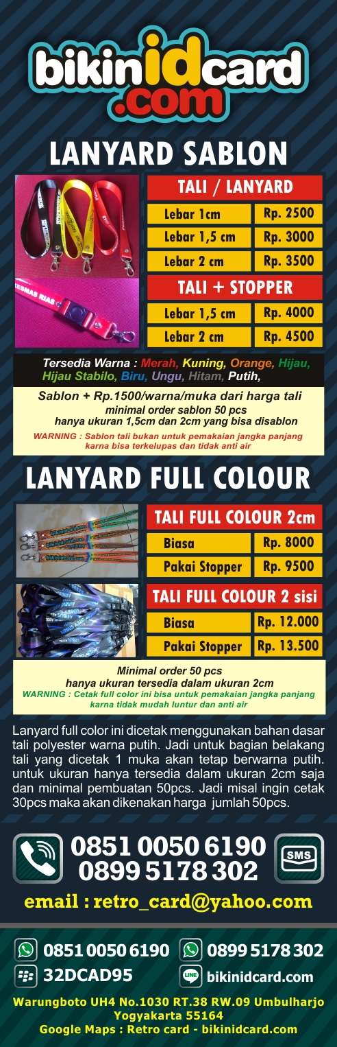cetak lanyard full color