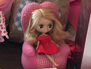 boneca Petite Blythe sorteada no evento