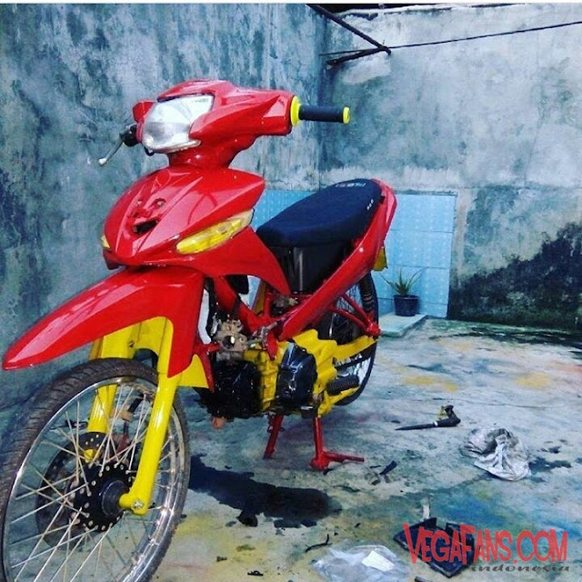 Vega ZR Modif Thailook Simple Merah Kuning