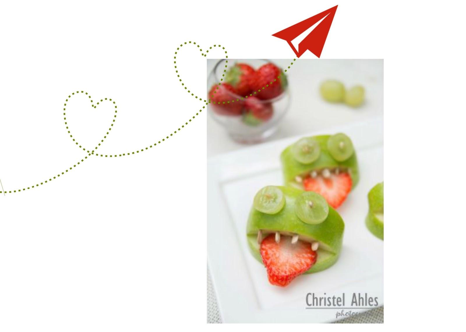 """vrolijke monsterlijke appelkikkertjes van de blog """"Christel Ahles"""""""