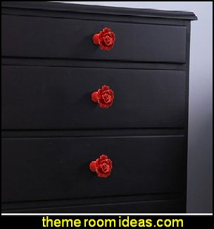 Rose Knobs Ceramic Kitchen Cabinet Pull Handles