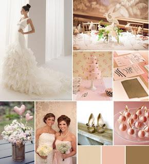 Decoración de bodas rosa cuarzo