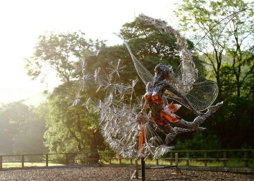 escultura de hadas