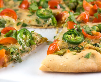 Rich Cilantro Pizza