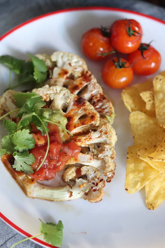 Mexican cauliflower steak recipe