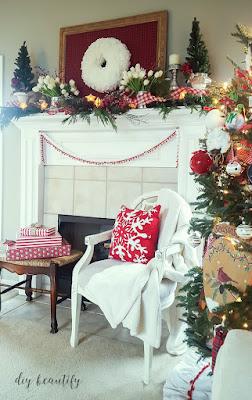 Decorating a festive Christmas mantle   diy beautify