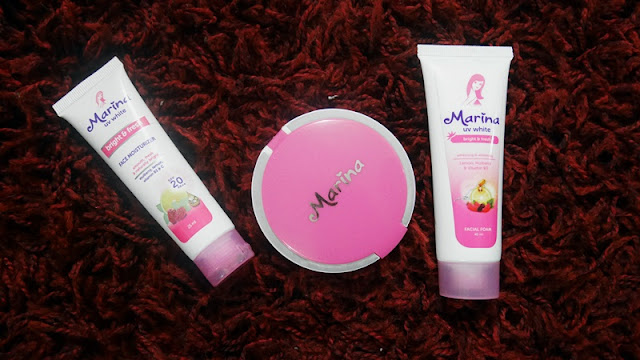 Nadya Aqilla Beauty Joy Life Marina Face Care Facial Foam Moisturizer Uv White Bright Fresh Marina Smooth Glow Two Way Cake Review
