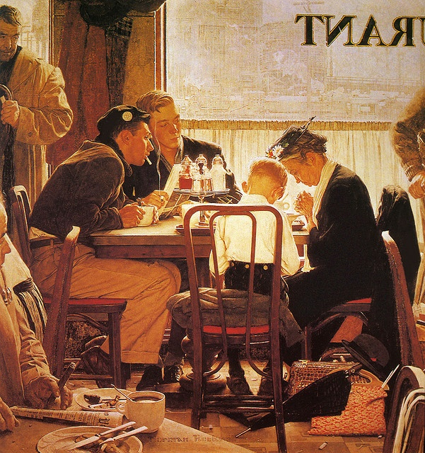 "Norman Rockwell  ""Saying Grace""  1951"