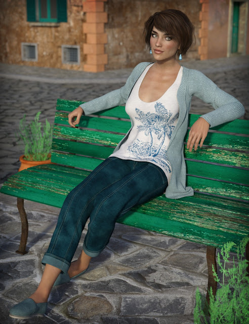 Casual Tourist for Genesis 3 Female