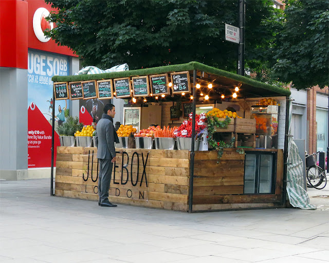 Juicebox, fresh juice from fresh produce, Oxford Street at Woodstock Street, London