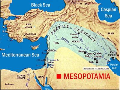 Gambar Peta Mesopotamia
