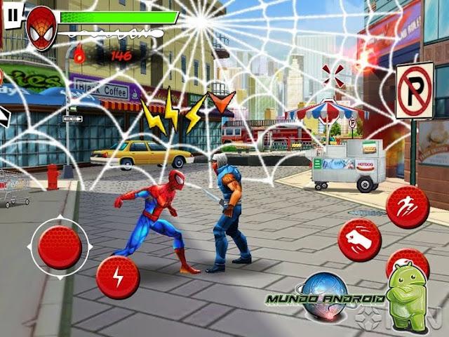 Jugabilidad de Ultimate Spider-Man: Total Mayhem