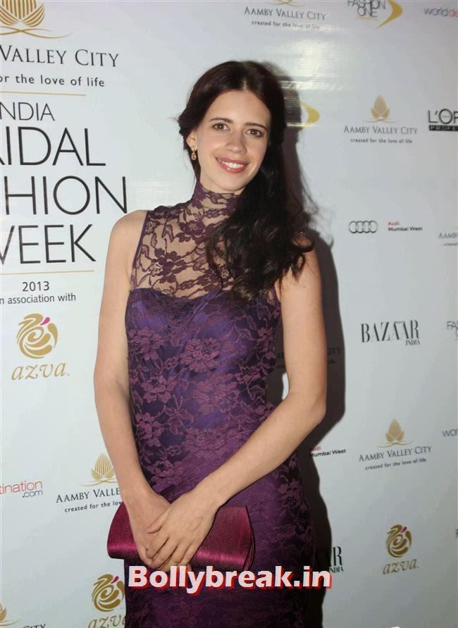 Kalki Koechlin, Bollywood Celebs at India Bridal Fashion Week