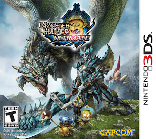 Monster Hunter 3 Ultimate (MH3U) - North American box art for Nintendo 3DS