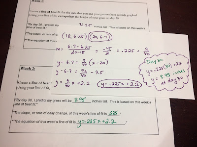 linear equations algebra project final extrapolation check
