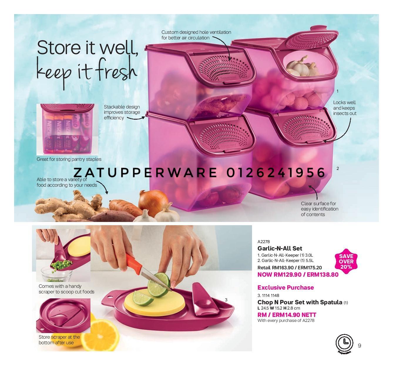 Za Tupperware Brands Malaysia 2018 Cherry Blossom Set Merah Mini Catalogue 12th November 30th