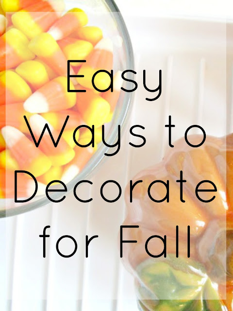 4 easy ways to decorate for fall