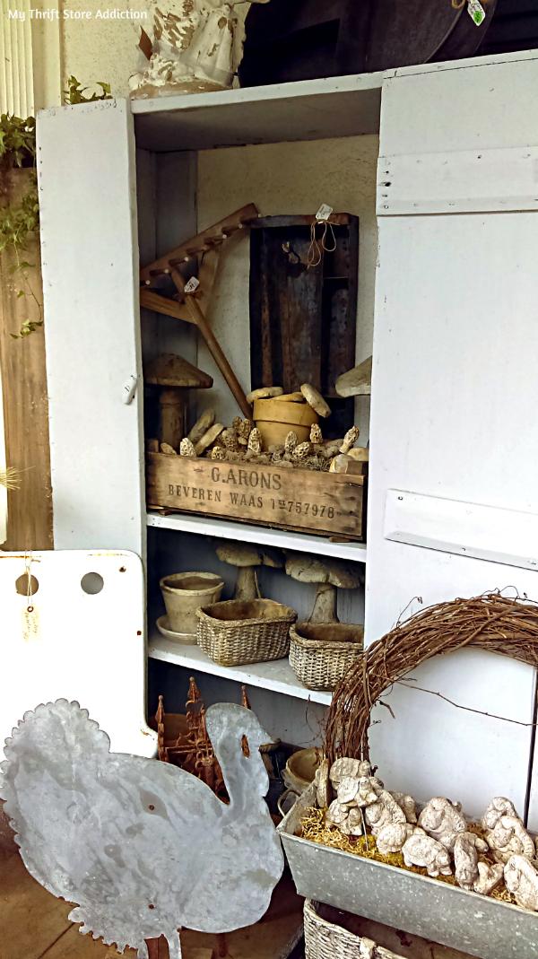 vintage garden cabinet