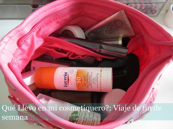 Qué llevo en mi cosmetiquero?: Viaje de fin de semana