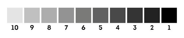 Шкала от белого до черного цвета
