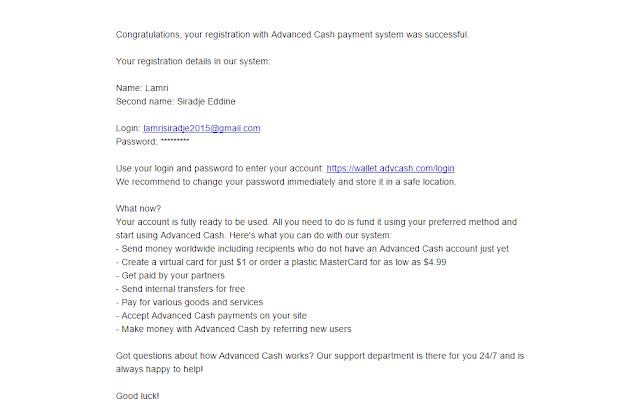 تفعيل البايبال  ببطاقة Advcash