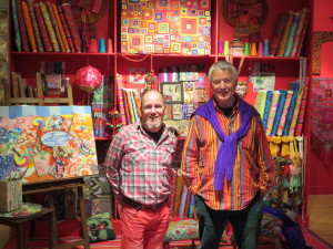 Kaffe Fassett and Brandon Mably