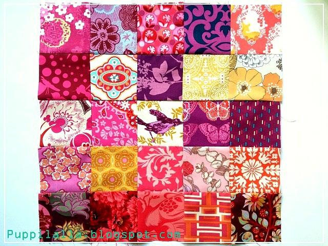 Puppilalla, Srappy Quilt Block, easy, beginner friendly quilt block, Bee Block, Quilting Bee, Stash Bee