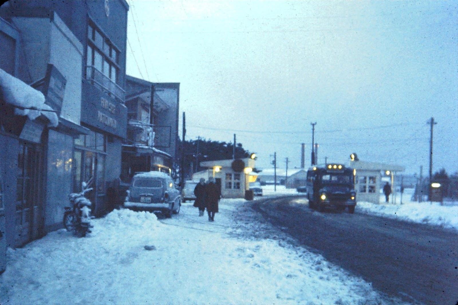 Misawa Air Base Main Gate                   - circa 1963