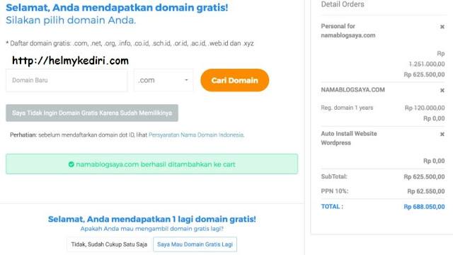 bagi-bagi domain gratis niagahoster