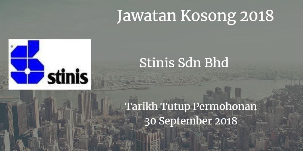 Jawatan Kosong Stinis Sdn Bhd 30 September 2018