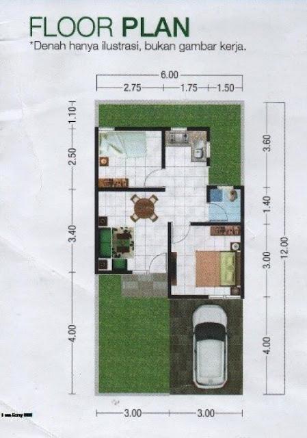 Site floor dari rumah subsidi Griya Senembah Meriland