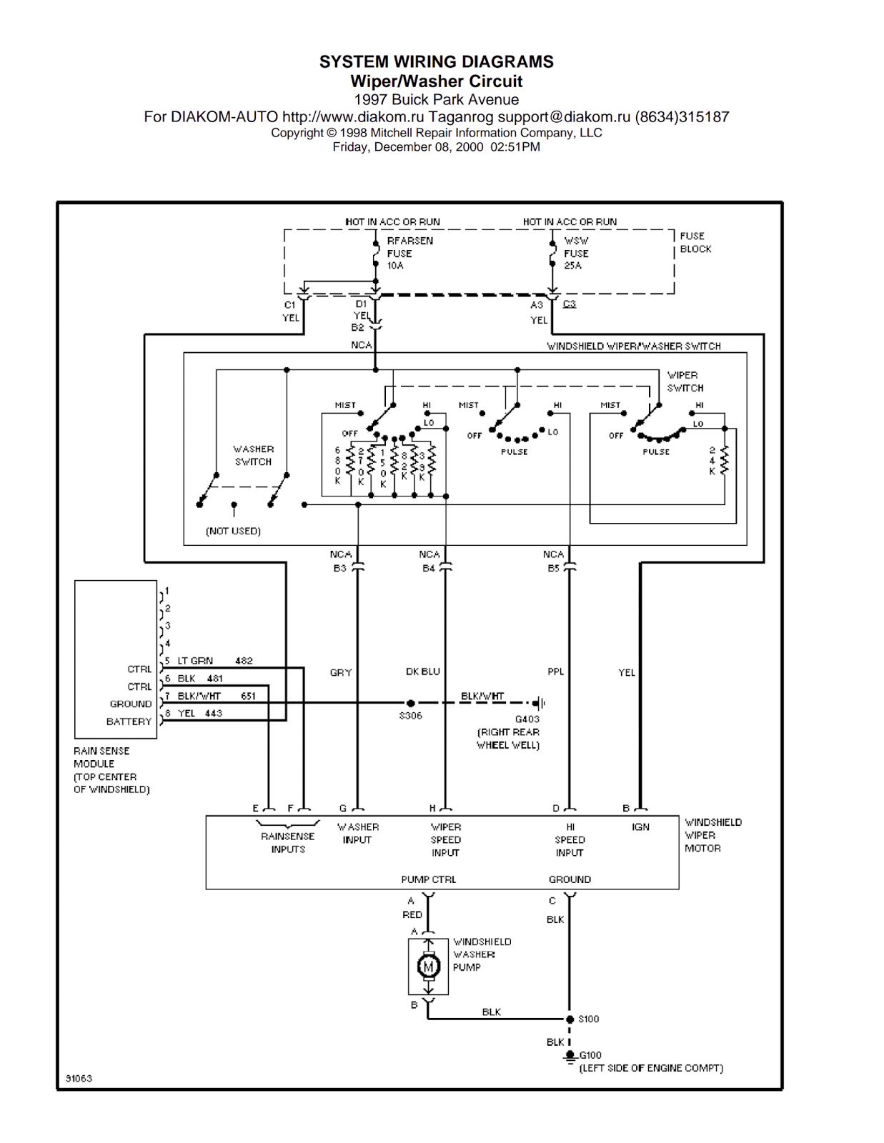 bmw z4 wiring diagram wipers