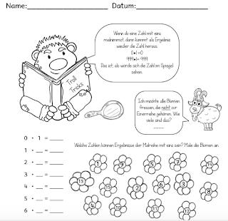 Übe die Multiplikation der Eins mit deinen Schülern und kläre auch die letzten Fragen zum Malnehmen mit eins