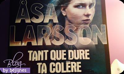 Livre : Tant que dure ta colère - Asa Larsson