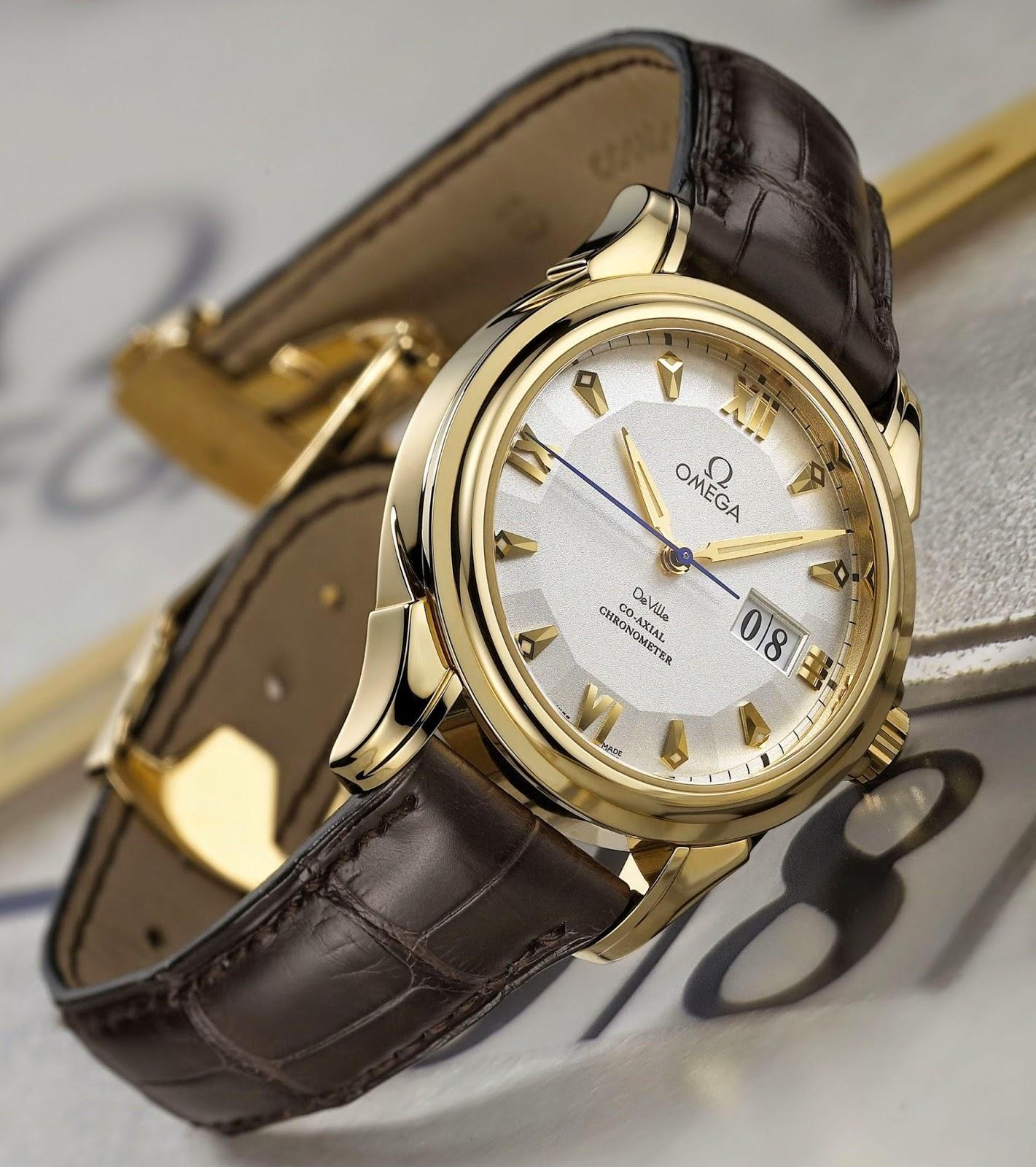 Omega - De Ville Co-Axial Big Date watch yellow gold case