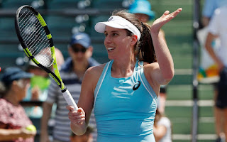 Johanna Konta breezes past Elise Mertens into fourth round of Miami Open