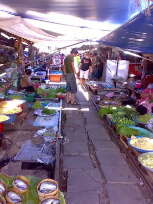 Train Market in Mae Klong, Samut Songkhran north of Bangkok