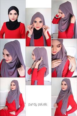 Cara Memakai Hijab Simple Modis